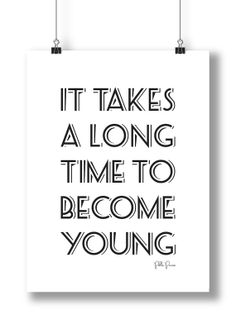 Become Young Digital Download Poster Pablo Picasso Designed by LittleWhiteMouse, $4.00 #Picasso #poster