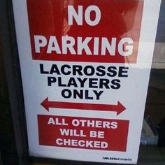 If pregnant women get parking spaces than lacrosse players should too