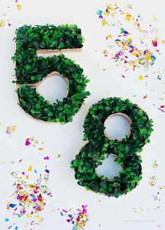 DIY Faux Grass Table Numbers | Love From Ginger