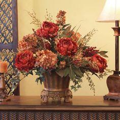 Peony and Hydrangeas Silk Floral Design
