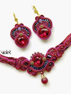 biZSUterie #sutasz #jewelry #jewellery #jewels Statement Jewelry, Boho Jewelry, Beaded Jewelry, Fashion Jewelry, Bead Embroidery Jewelry, Beaded Embroidery, Handmade Necklaces, Handmade Jewelry, Soutache Necklace