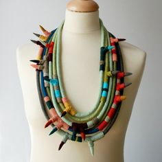 Textile necklace nO.395 #necklace #textile