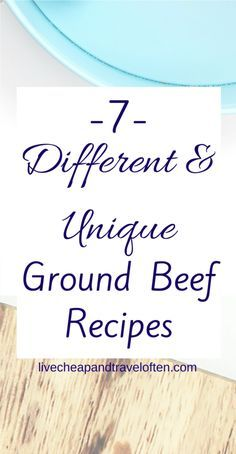 Seven Different and Unique Ground Beef Recipes Budget meal planning ideas for meal planning beginners. Use these recipe ideas to meal plan and stay on budget! Budget Meal Planning, Cooking On A Budget, Budget Meals, Budget Recipes, Cooking Tips, Ground Beef Recipes Easy, Beef Recipes For Dinner, Entree Recipes, Meal Recipes