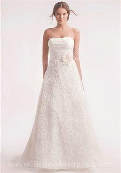 Alita Graham 7705 Strapless Organza A-Line Bridal Gown