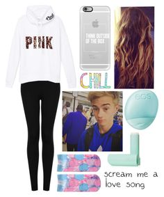 """""""Lazy Day With Jack"""" by taytay9502 ❤ liked on Polyvore featuring Topshop, Victoria's Secret PINK, Casetify, Cotton Candy and Eos"""