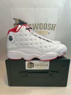 quality design 7d15d 97c0b NIKE AIR JORDAN XIII 13 RETRO HISTORY OF FLIGHT WHITE RED 414571-103 Size  10  Nike  BasketballShoes