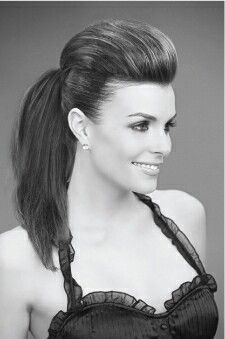 Sleek ponytail with textured quiff