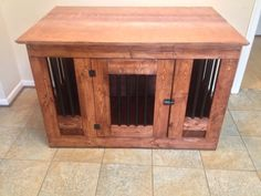 Dog Crate End Table 30x18x24