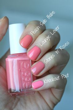 Natural and Fresh Makeup Essie Envy: Essie Spring 2016 - Lounge Lover Vergleiche How To Survive As A Essie Nail Colors, Essie Nail Polish, Nail Polish Colors, Essie Spring Colors, Pink Polish, Nail Polishes, Love Nails, How To Do Nails, Pretty Nails