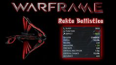 Hello people,here's the first episode of Warframe Weapons Gameplay,in this episode we are going to play with Rakta Ballistica ,hope you like it,if you do,smash that like button,leave a comment below and susbcribe for more.Peace!