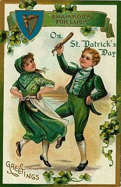 vintage card art for St. Patty's Day