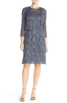 Alex Evenings Layered Lace Sheath Dress available at #Nordstrom