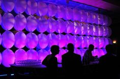 "3D cylindrical shapes & colorful LED lighting variations add texture to any event backdrop. Check out our ""Creative Visions Transformation"" board for more event decor ideas!"