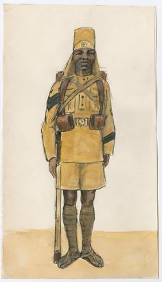 British; 3rd King's African Rifles, Marching Order, 1904 by CCP Lawson
