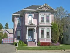 Pink Victorian House in San Jose, California San Jose California, Northern California, Victorian Architecture, Historical Architecture, Ansel Adams, Pink Houses, Old Houses, Happy House, My House