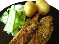 Stekt makrell - chezENGH Steak, Chicken, Food, Meals, Steaks, Beef, Cubs
