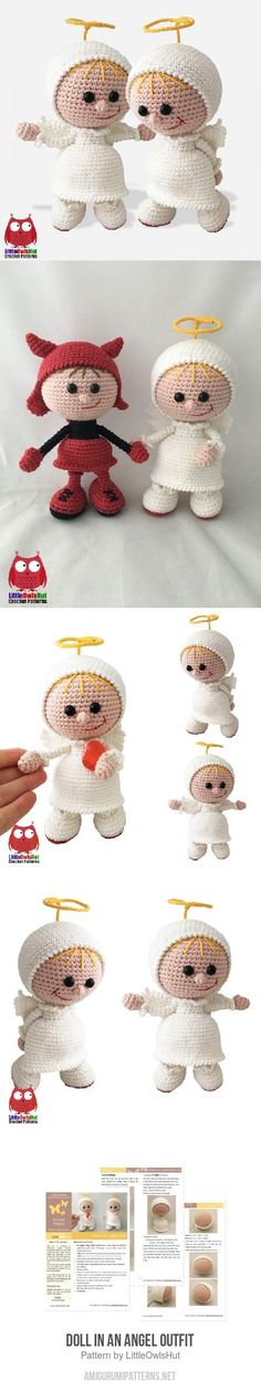 Doll in an Angel outfit amigurumi pattern
