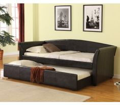 Crown Mark Tranquil Daybed in Black