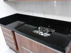 Pia de cozinha em granito preto 1.50cm s/cuba inox