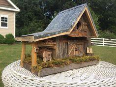 Bird House Kits Make Great Bird Houses Wooden Bird Houses, Bird Houses Diy, Fairy Houses, Doll Houses, Bird House Plans, Bird House Kits, Rustic Barn, Barn Wood, Bird House Feeder