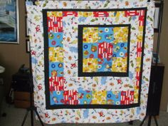 Slightly Off Center--don't you just love the Dr. Seuss fabric? A real political guy--try reading the Butter Battle Book or Star Belly Sneeches--make this quilt, slightly to the right or to the left!