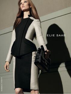 Color-blocking done right! Elie Saab Autumn Winter 2012 AD Campaign
