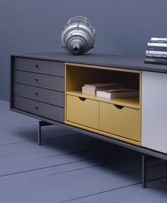 Discover recipes, home ideas, style inspiration and other ideas to try. Media Furniture, Plywood Furniture, Furniture Styles, Cool Furniture, Modern Furniture, Furniture Design, Sideboard Cabinet, Cabinet Furniture, Retro Sideboard