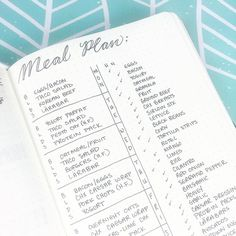 Bujo inspiration for meal and grocery planning See this Instagram photo by @boho.berry • 1,262 likes
