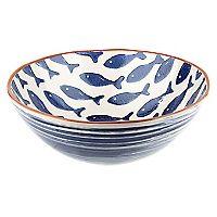 Bowl Ensalada 28 cm Kitchenware, Tableware, Coastal Living, Decorative Bowls, Inspire, Fish, Blue, Home Decor, Handmade Pottery