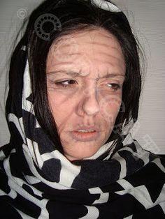Old lady makeup Halloween makeup wrinkle makeup label me Lindsay ...