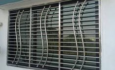 Amazing Contemporary Simple Grill Design For Windows Steel Grill Design, Home Window Grill Design, Steel Railing Design, Balcony Grill Design, Grill Door Design, Balcony Railing Design, House Gate Design, Main Door Design, Door Grill