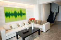 "Sweet. ""Vapor Sky creates visual representations of audio that you can hang on your walls. Just upload your sound bite and choose your color scheme and they take care of the rest,"""