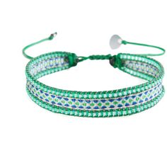 Mishky Bracelet Canal Beige Blue Green ($34) ❤ liked on Polyvore featuring jewelry, bracelets, green, blue bangles, green jewelry, blue green jewelry, blue jewelry and green bangles