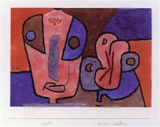 Paul Klee 'The Clown and His Flower' 1939 Gouache,watercolor and pencil on paper on the artist's mount 8.27 x 11.73""