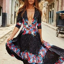 Amazing arriving 2017 Summer Boho Maxi Dress Beach Wear Women Sexy Short Sleeve Low Cut V-Neck Floral Printing Dress Ladies Skater Long Dress now on sale US $18.99 with free shipping  you can easily find this amazing item and a whole lot more at our favorite online site      Get it today right here >> http://bohogipsy.store/products/2017-summer-boho-maxi-dress-beach-wear-women-sexy-short-sleeve-low-cut-v-neck-floral-printing-dress-ladies-skater-long-dress/,  #BohoGipsyStore
