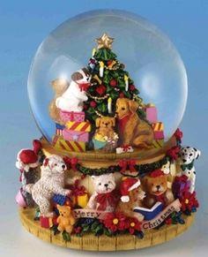 Musical Box Snow Globe *Christmas*