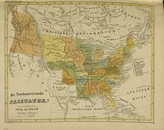 Map of the United States, published in Norway, 1840