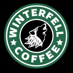 Game Of Thrones Stark Winterfell Starbucks Coffee - Cute Cartoons - Kaffee Coffee Meme, Coffee Logo, Coffee Poster, Coffee Quotes, Coffee Coffee, Coffee Beans, Coffee Scrub, Drink Coffee, Coffee Shop