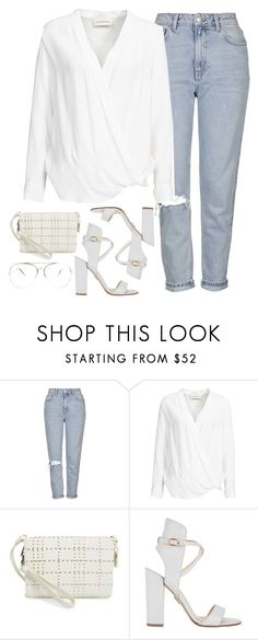 """""""Untitled #46"""" by faseeha-noor ❤ liked on Polyvore featuring Topshop, By Malene Birger, Vince Camuto and Paul Andrew"""