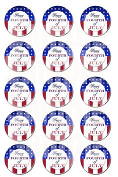 Happy Fourth of July Bottle Cap Images