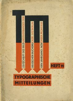 Cover Typographische Mitteilungen, 24. Jahrgang, Heft 11, November 1927