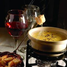 Foundue de queijo + vinho
