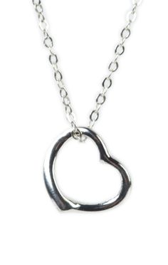 silver necklace with open heart charm  $5.25    Special Offer: 30%