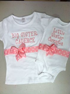 PInk Big Sister/Little Sister Shirt Set by DesignsbyTTCT on Etsy, $40.00