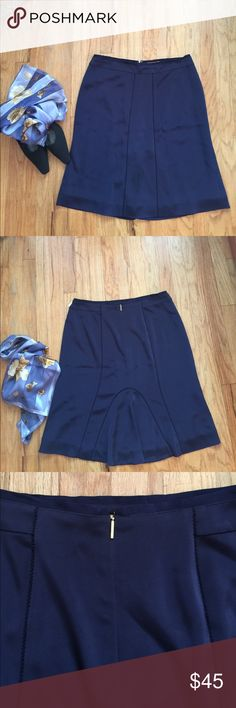 Tory Butch Skirt Excellent condition fully lined...lovely design navy blue color ..., cool summer skirt Tory Burch Skirts A-Line or Full