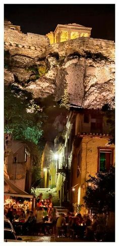 Athens by night, Greece ⭐️ Dream Vacations, Vacation Spots, Cool Places To Visit, Places To Travel, Travel Destinations, Athens By Night, Wonderful Places, Beautiful Places, Amazing Places