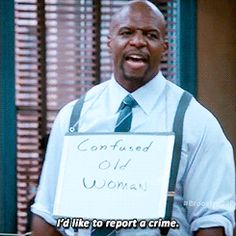 """When Terry role-played to help out the office. 
