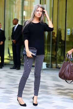 Sarah Harris, British Vogue, Stripey Pants | Street Fashion | Street Peeper | Global Street- London