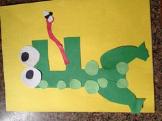 F Is For Frog Preschool Crafts Frogs Letter