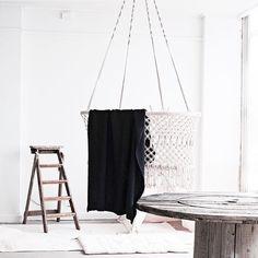 Hanging bassinet! Wonderful styling Hanging Bassinet, Wardrobe Rack, Baby Rooms, Furniture, Home Decor, House, Hanging Cradle, Babies Rooms, Decoration Home